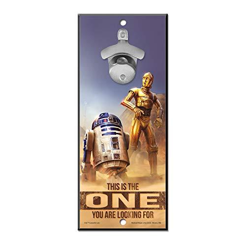 WinCraft Star Wars Star Wars Star Wars Star Wars/Original Trilogy R2D2 ONE 5x11 Apribottiglie SignWinCraft Star Wars/Original Trilogy R2D2 ONE 5x11 Apribottiglie, Multicolore, NA
