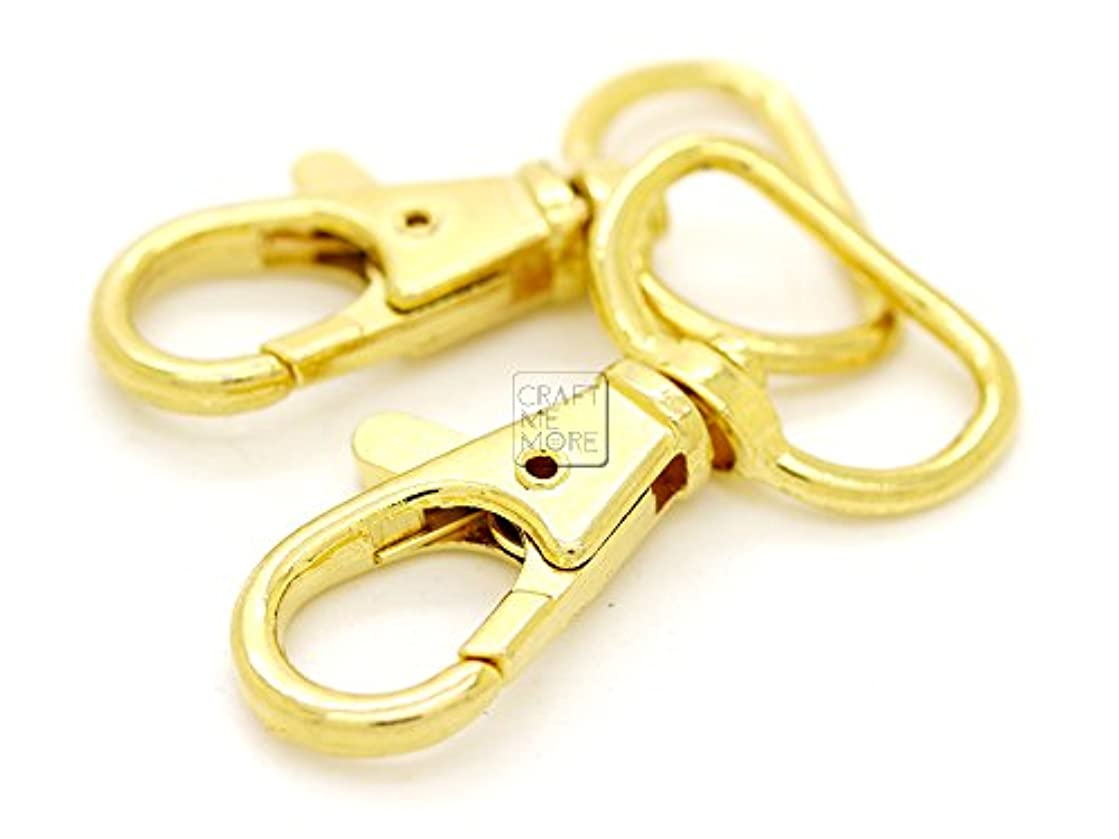 CRAFTMEmore Swivel Lobster Claw Clasps Classic Trigger Snap Hooks Purse Landyard Clip 5/8