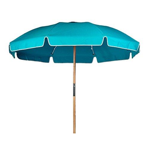 7.5 ft. Steel Commercial Grade Heavy Duty Beach Umbrella with Ash Wood Pole & Acrylic Fabric