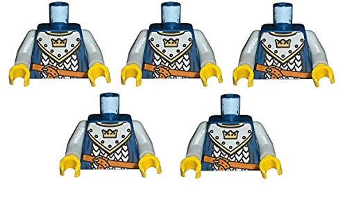LEGO CASTLE - 5 SELTENE RITTER - OBERKÖRPER - SAMMELFIGUREN