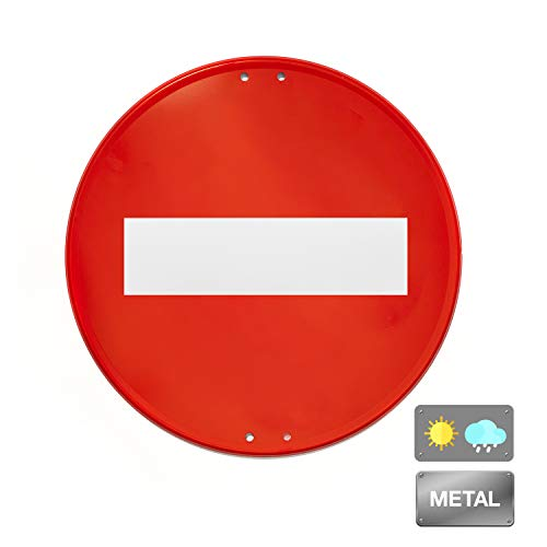 Normaluz V10060 - Señal Vial Redonda Prohibido Metalica Termolacada 50 cm, Rojo