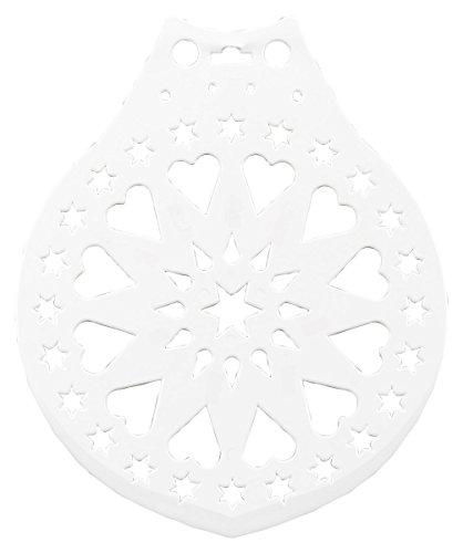 Haus Kuchen Ständer und Dekorieren Vorlage, weiß, 28cm Durchmesser