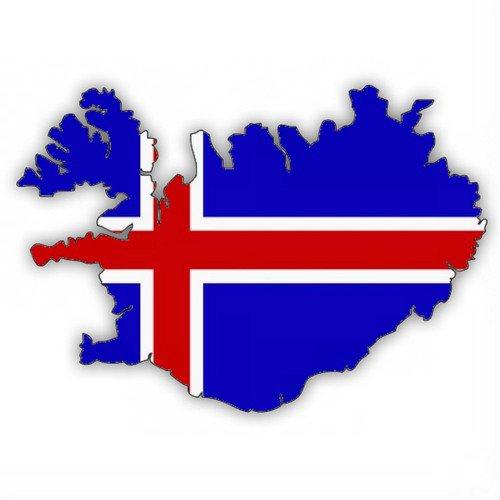 Auto Aufkleber, Car Sticker ISLAND, Iceland. Konturgeschnitten. (ca. 11 cm)