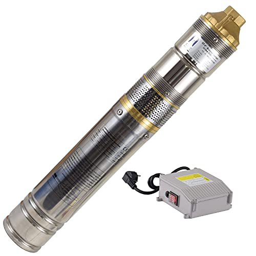 Agora-Tec® 4 Zoll Brunnenpumpe Tiefbrunnenpumpe 500W-screw 15m Kabel sandverträglich-sandresistent