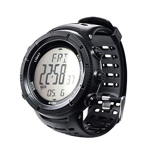 EZON Men's Hiking Outdoor Sports Watch with Altimeter Barometer Compass Thermometer Waterproof…