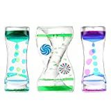 ZaxiDeel 3 Pack Liquid Motion Timer - Funny Sensory Toy for Relaxation - Floating Color Lava Lamp Timer - Incredibly Effective Calming Toy for Kids & Relaxing Liquid Bubbler Timer