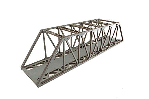 War World Scenics Single Track Hi-Detail Grey Girder Bridge 560mm – OO/HO Model Railway Diorama