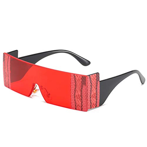 Gafas de sol de una pieza Personalized One Piece Printed Frame Glass Fashion Snakeskin Sunglasses Sombra de viaje al aire libre (Color : E)