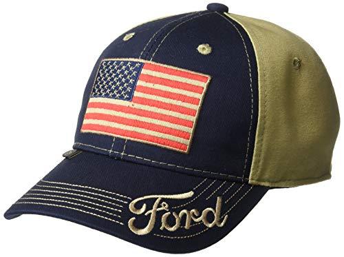 Outdoor Cap Gorra de camión, Unisex, para Adultos, Bandera Americana, Azul Marino/Caqui, Adulto
