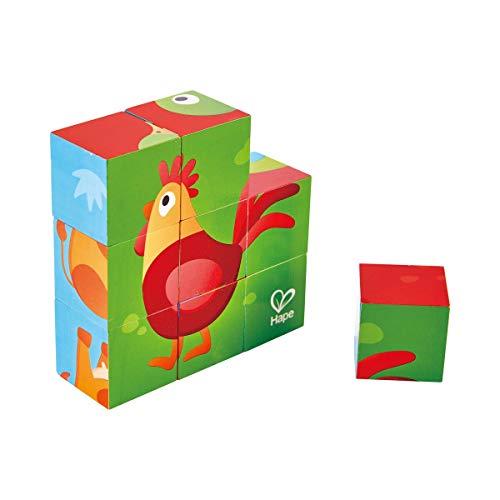 International  Multi Sided Farm Animal Wooden Block Puzzle Puzle Bloques Granja, Multicolor, 40 x 40 cm (E1618)
