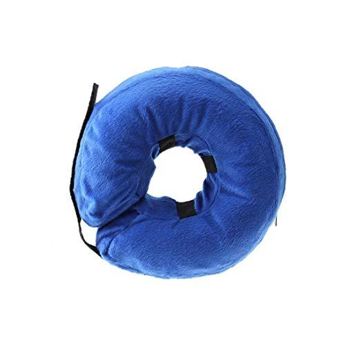 UGsLTyVqv Pet Supplies 22 Centimetri * 22cm Collare Recupero Gonfiabile per Cani e Gatti-Comodo Molle dell'animale Domestico E-Collare Non Block Vision Medica postoperatoria Wound Healing Cono Blu