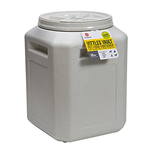 Gamma2 Vittles Vault Outback 50 lb Airtight Pet Food Storage Container, Warm Granite