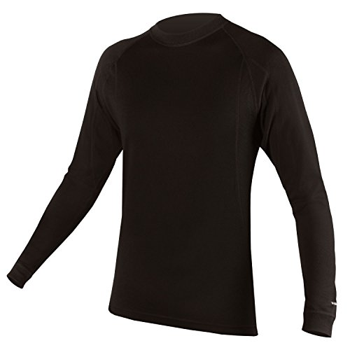 Endura BaaBaa Merino Long Sleeve Cycling Baselayer Black, X-Large
