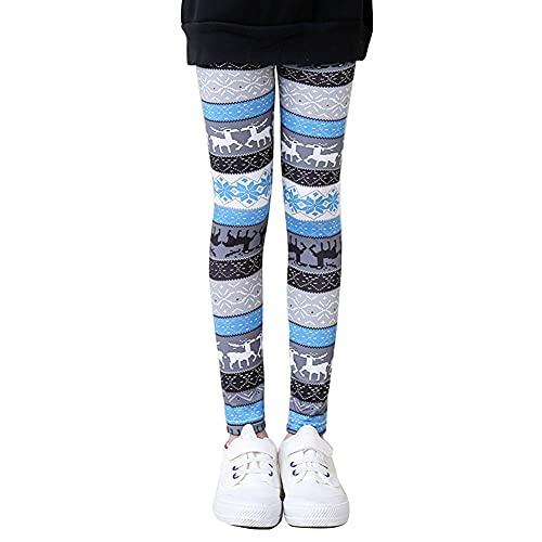 YAOTT Pantalones Leggings Niña Elasticidad Leggins con Estampado Floral Pantalón Largo Leggins Deportivos Cintura Elástica para Chica,7,130