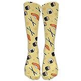 wwoman Camarones Sushi Palillos Calcetines deportivos Deportivos Novedad Becerro Calcetines largos de running Unisex