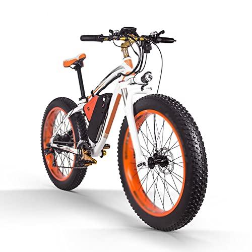 Liu Yu·casa creativa Bicicleta eléctrica para Adultos 1000w 26 Pulgadas neumático Gordo 17Ah MTB Bicicleta eléctrica con velocímetro de computadora Potente Bicicleta eléctrica (Color : B)