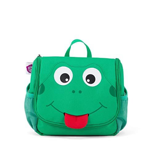 Affenzahn Kulturtasche Frosch für 1-3 Jährige Kinder 17 x 20 x 7 cm - Grün