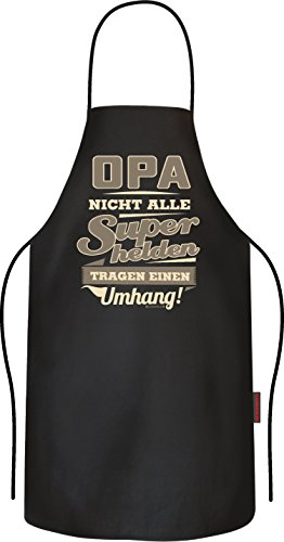 RAHMENLOS Original BBQ Grillschürze, das Geschenk für den Großater: Opa, Nicht alle Superhelden tragen einen Umhang!