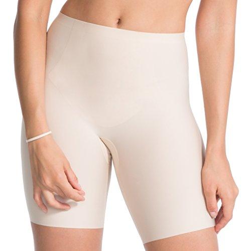 Spanx - Thinstincts - Damen Shaping Short/Hose mit Bein - Miederhose - Mittlerer Shaping Level - Shape - Shapeware in Haut oder Schwarz (42-44 (Herstellergröße L), Soft Nude)