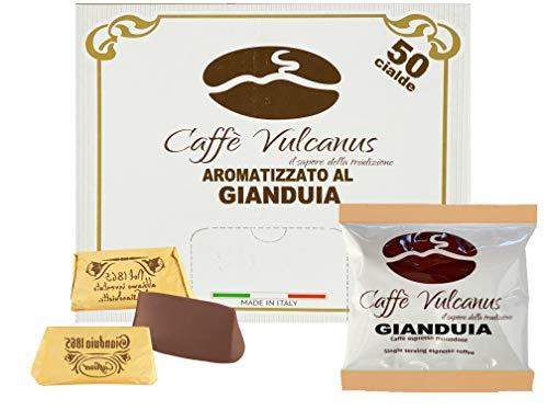 Caffè Vulcanus - 50 cialde compostabili ESE44 - Caffè aromatizzato al gianduia