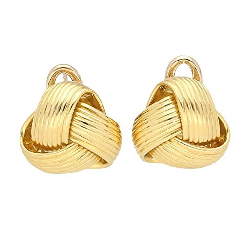 Pendientes de tuerca Omega de oro amarillo de 18 quilates para mujer (13 x 13 mm) | El regalo perfecto para una dama especial | Jollys Jewellers