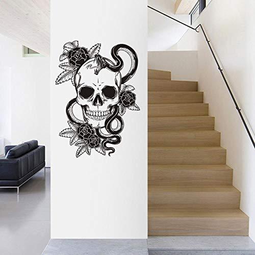 Pegatinas De Pared Bedom wallpaper Etiqueta Engomada De La Serpiente De Halloween Punk Death Applique Devil Name Car Art Tatuajes De Pared Decoración Mural @ _83X116Cm