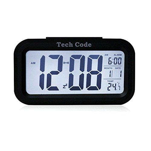 HITO - Despertador Reloj con alarma de 5,3 pulgadas -...