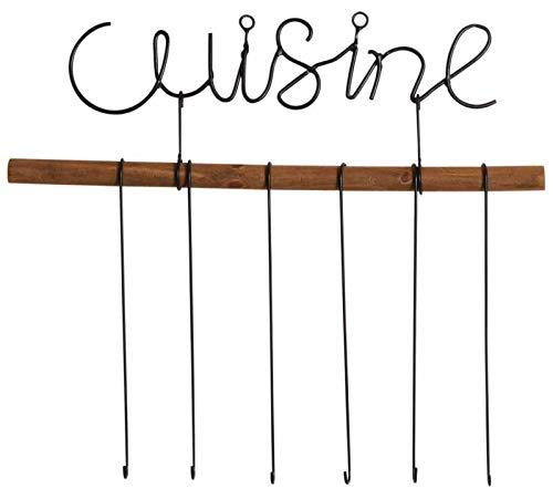 Support ustensiles de cuisine 6 crochets