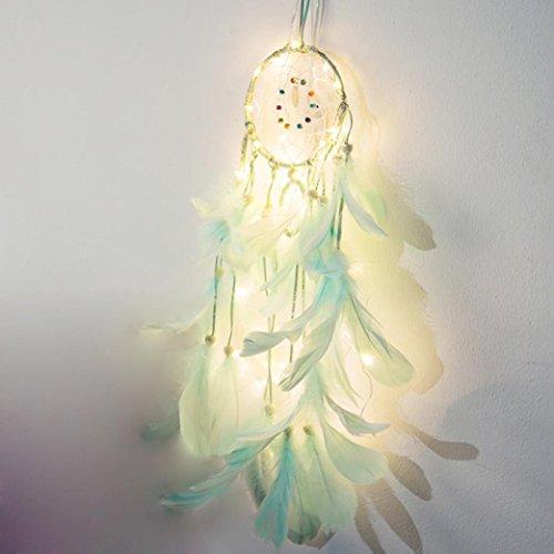 Attrape R/êve Plumes Dream Catcher D/écoration Mariage Capteur de R/êves Rose Rameng