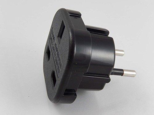 vhbw Reisestecker Adapter (Euro-Stecker auf UK-Buchse) - Reiseadapter, Schwarz, 250 V / 16 A