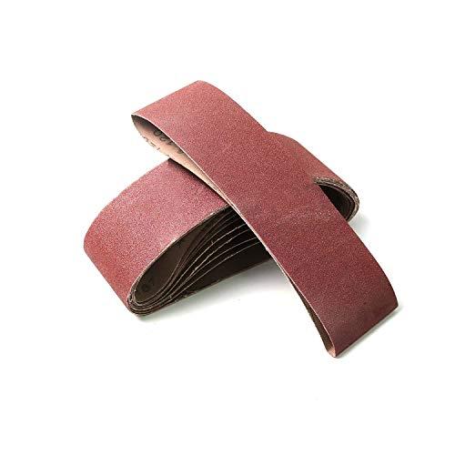 Monster & Master Abrasive Belt Set 3x21 inches Aluminum Oxide Sanding Belt (60/80 Grits) for Sanding and Polishing Hardwood, Chipboard, Construction Board, Metal, 10-Piece, MM-AB-001