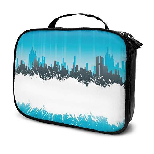 Städtischer weißer Spritzer-Streifen-Hintergrund-Make-upzug-Kasten mit justierbarer Teiler-Reise-Kosmetik-Tasche organisieren Fall