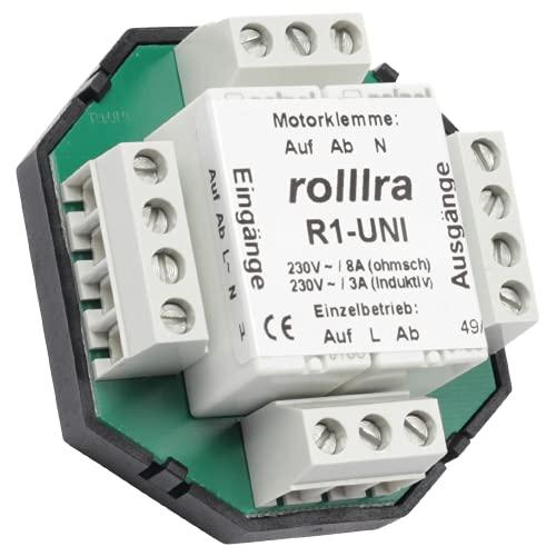 Trennrelais R1-UNI (2 Motore) für Rolladenmotor Jalousiemotor Einzelsteuerung/Zentralsteuerung/Gruppensteuerung [862]
