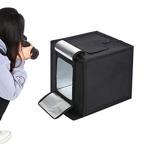 60CM Studio Set, Mini Light Box Softbox Fotografie Verlichting Kit voor Fotostudio Accessoire - Camera Statief & Mobiele Telefoonhouder voor Fluorescerende(EU AC220V)