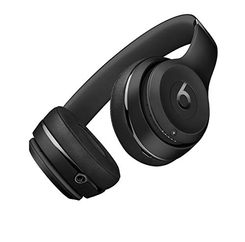 Beats Solo3 Wireless On-Ear Headphones - Apple W1 Headphone Chip, Class 1 Bluetooth, 40 Hours of Listening Time - Matte Black (Previous Model)