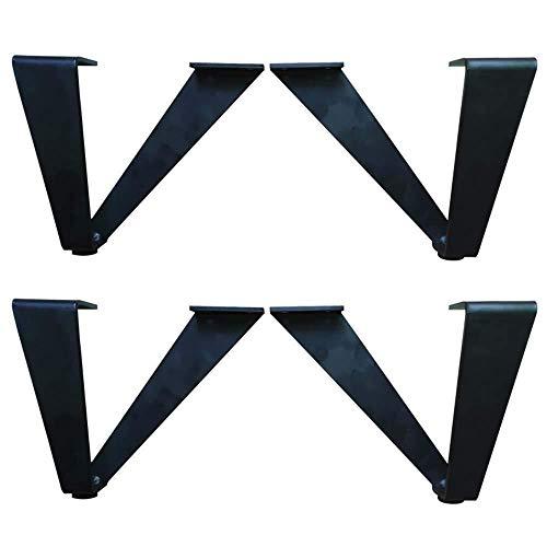 hsj Pies de mesa y silla de hardware para patas de sofá de color negro para el gabinete de TV, patas de metal para mesa de café, mesita de noche, zapatero de apoyo