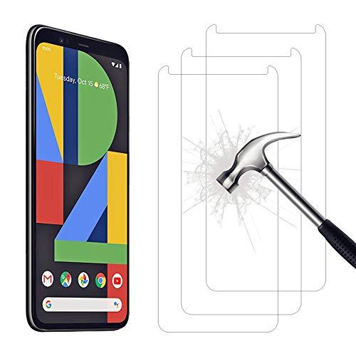 AHABIPERS Schutzfolie Panzerglas für Google Pixel 4 Panzerglas, HD Displayschutzfolie, 9H Härte Schutzfolie, Anti-Kratzer/Bläschen/Fingerabdruck/Staub Panzerglasfolie für Google Pixel 4-3 Stück