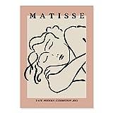 Mode abstrakte Matisse Strichzeichnung Pflanze Blatt Poster