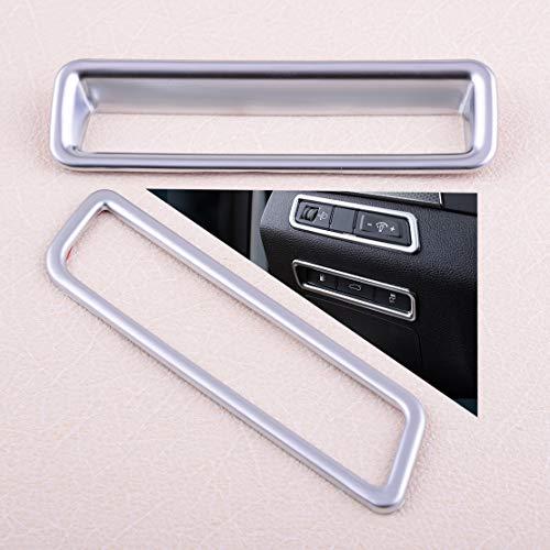 ESUHUANG 2PCS Plata ABS Chrome Centro de Control Console Ventana Interior Interruptor del Panel de Ajuste de la Cubierta Fit for Hyundai Sonata 2015 2016 2017 Piezas de automóviles al por Menor