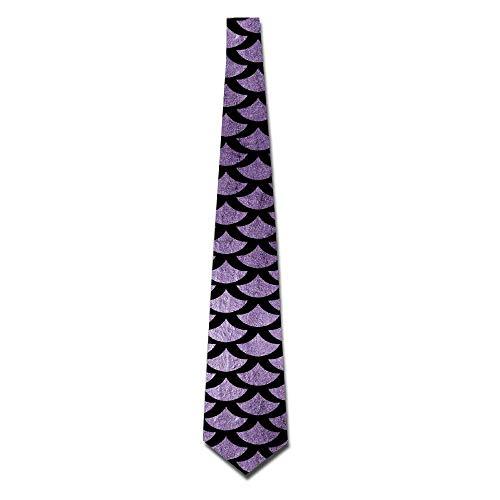 Corbatas de seda clásicas para hombre de escamas de pez púrpura sirena Corbatas de regalo personalizadas