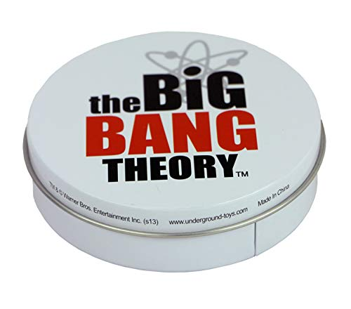 The Big Bang Theory Untersetzer aus Metall, 4 Stück, in Dose, inklusive Soft-Kitty- und Bazinga-Designs