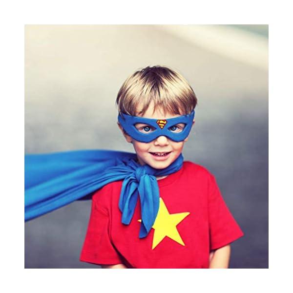 CompraFun Máscaras de Superhéroe, Máscaras Mitad de Fieltro con Cuerda Elástica, Disfraz Cosplay para Fiestas Cumpleaños Halloween Navidad, Accesorio de Fiesta Infantil y Adultos, Niños (31 Piezas)