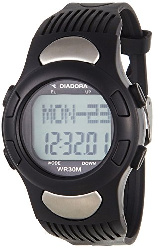 Diadora Herren Digital Quarz Uhr mit Plastik Armband DI-018-01