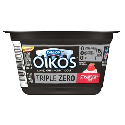 Oikos Triple Zero Strawberry Greek Yogurt | Amazon