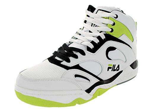 Fila Kj7 - Zapatillas de baloncesto de piel para hombre, blanco (negro, blanco, lima (White/Black/Lime Punch)), 40.5 EU