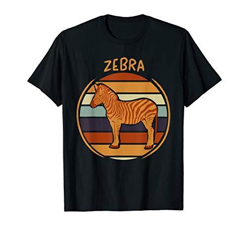 70er 80er Retro Zebra Bild Vintage Kleidung Geschenk Zebras T-Shirt
