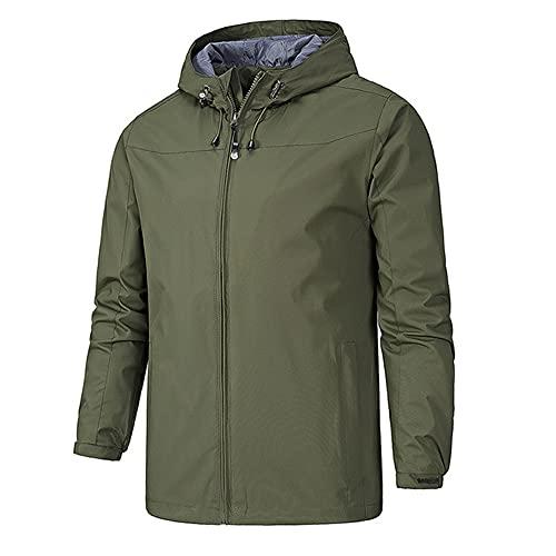 Otoño invierno estilo hombres al aire libre chaqueta de los hombres al aire, verde, XXXL