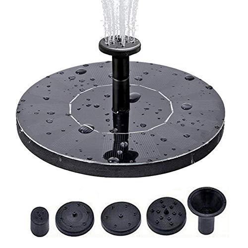 """Lvhan Solar Springbrunnen - 5.3\"""" Solar Teichpumpe mit 4 Effekte,Solarpumpen Schwimmender Brunnen für Garten, Kleiner teich, Vogelbad, Fisch-Behälter, Pool"""