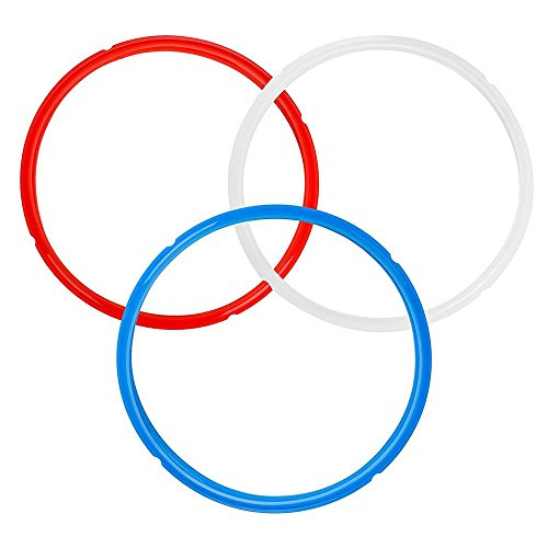 New Silicone Seal Rings Gasket for Instant Pot 4Qt /5Qt /6Qt /7Qt /8Qt/L Blue Red White IP-DUO60,IP-LUX60,IP-DUO50