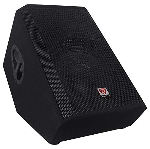 """Rockville 15"""" 1400 Watt 2-Way Passive Stage Floor Monitor Speaker, black (RSM15P)"""